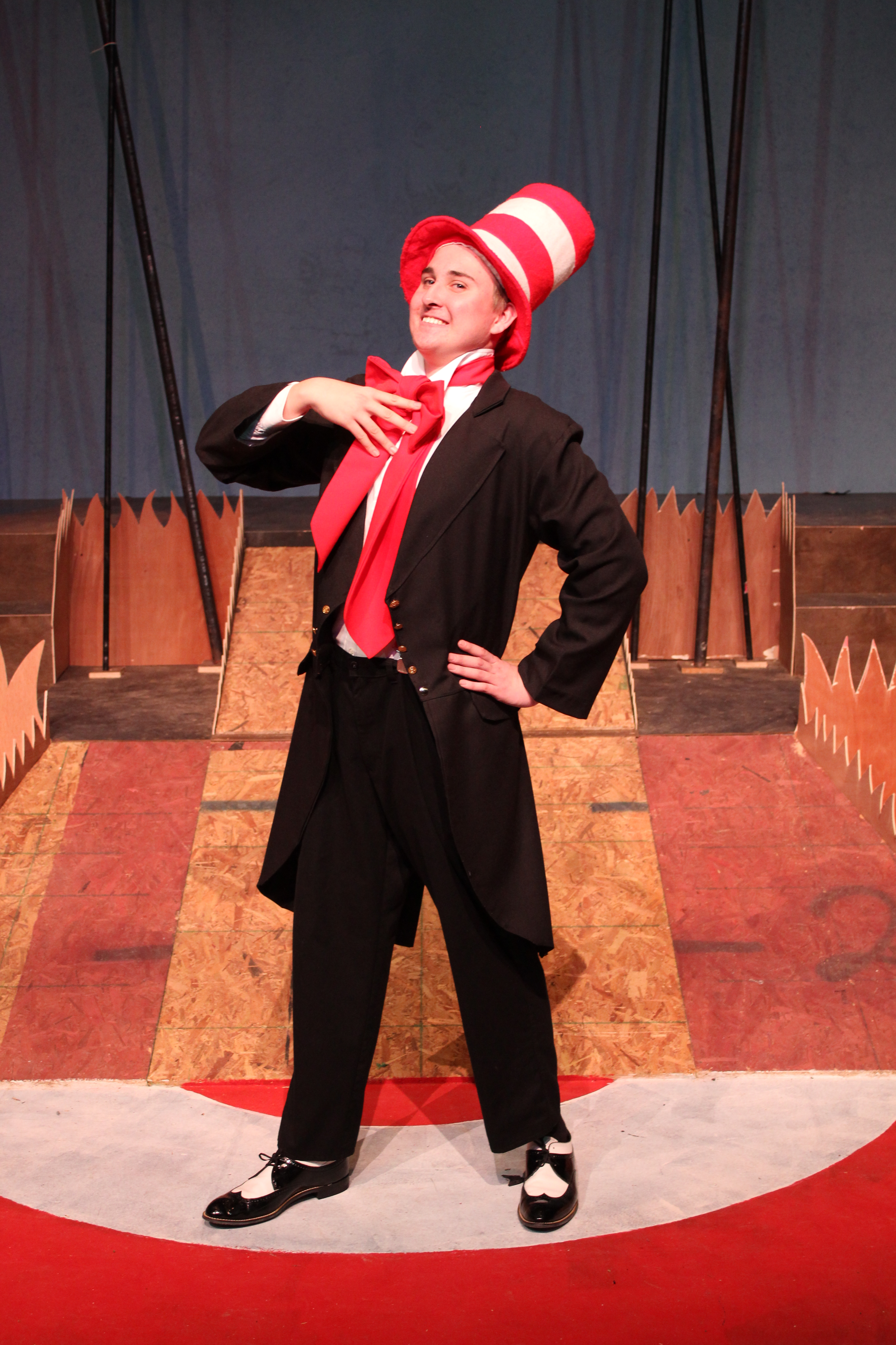 Gehs senior thomas von dohlen as the cat in the hat in a scene from