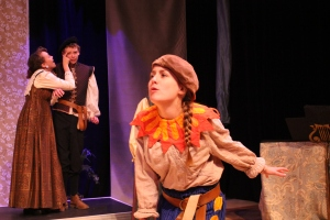 GVT students Neely Seams, Shane Roper, and Carly Brand in the GVTeen Conservatory showcase production of The Comedy of Errors (2014).