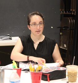 Liz at table read